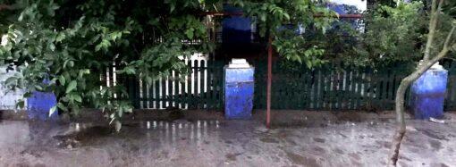 В Одесской области дожди затопили частные усадьбы (фото)