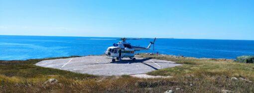Украинские пограничники возобновили полеты на остров Змеиный (видео)