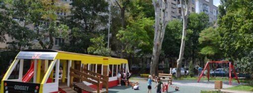 В Одессе появился еще один необычный трамвай «на приколе»