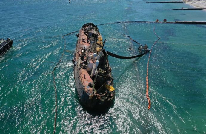 Названа окончательная сумма ущерба экологии от танкера Delfi