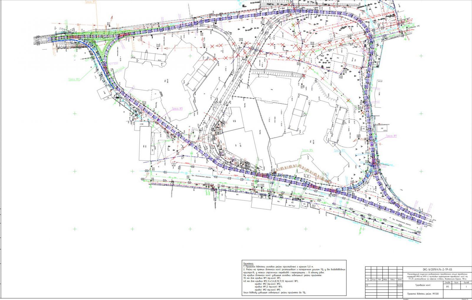 план трамвайных путей
