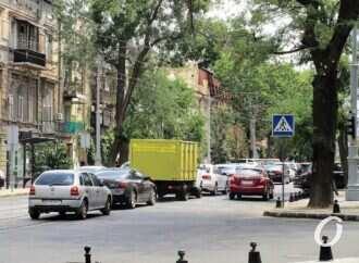 На спуске Маринеско и Софиевской наблюдается большое транспортное оживление
