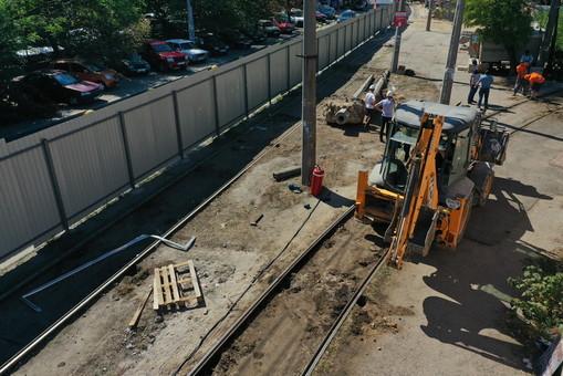 В Одессе начат демонтаж трамвайных путей на 16-й Фонтана
