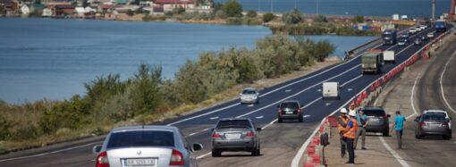 Зеленський оглянув перебіг реконструкції мосту через Хаджибейський лиман