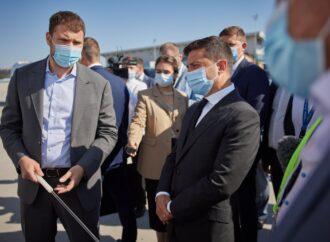 Президент оглянув проєкт реконструкції Міжнародного аеропорту «Одеса»