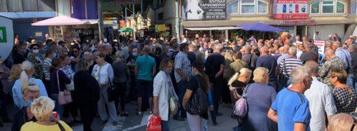 Предприниматели рынка «7 километр» вышли на митинг против действий администрации