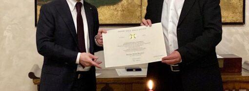Итальянский президент наградил Алексея Ботвинова