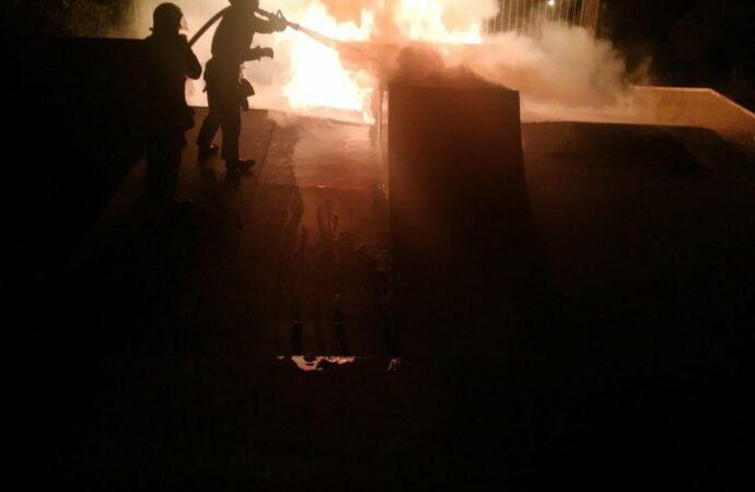 На Одещині невідомі підпалили скейт-майданчик