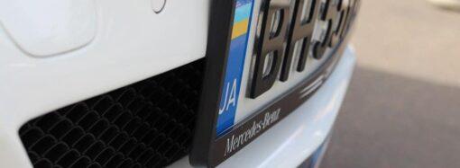 Одесских автомобилистов начали штрафовать за 3D номера