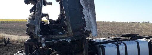 Нападение на дальнобойщика в Одесской области: бандиты сожгли грузовик