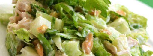 Витаминный осенний салат с яблоком и сельдереем – рецепт
