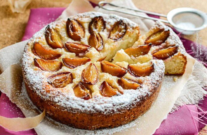 Сливовый пирог со вкусом капучино – рецепт