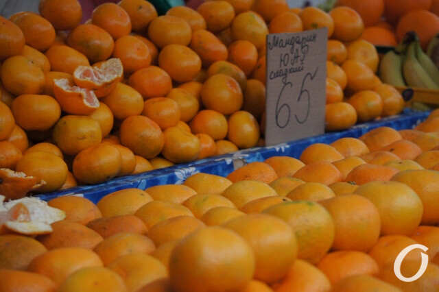 рынок, цитрусовые