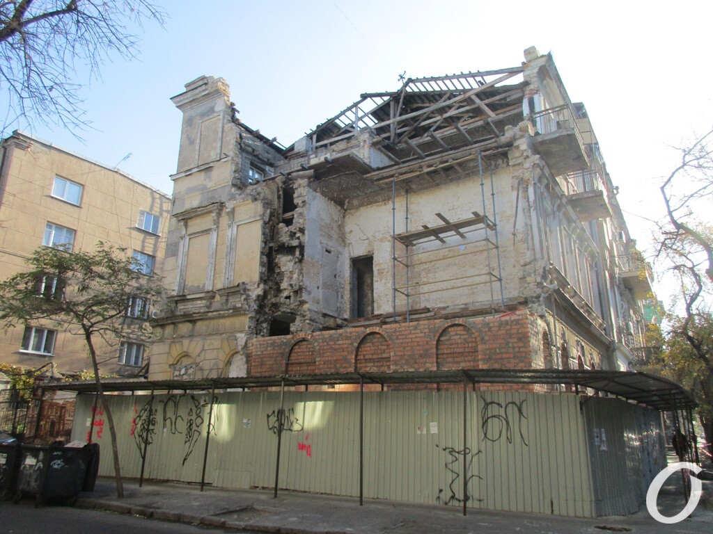 разрушенный дом на Канатной