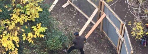 Продолжение следует: в Одессе на Академической пилят деревья и копают фундамент под незаконную пристройку (фото) (видео)