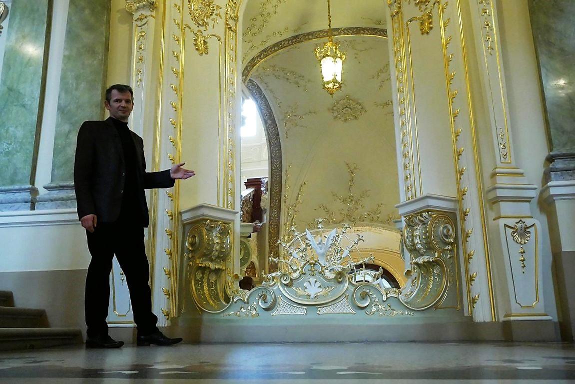 зеркало в одесском оперном театре