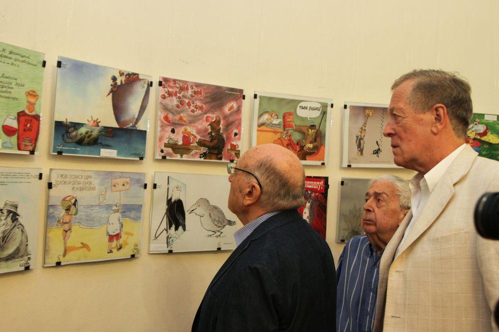 Жванецкий и Федоров на выставке