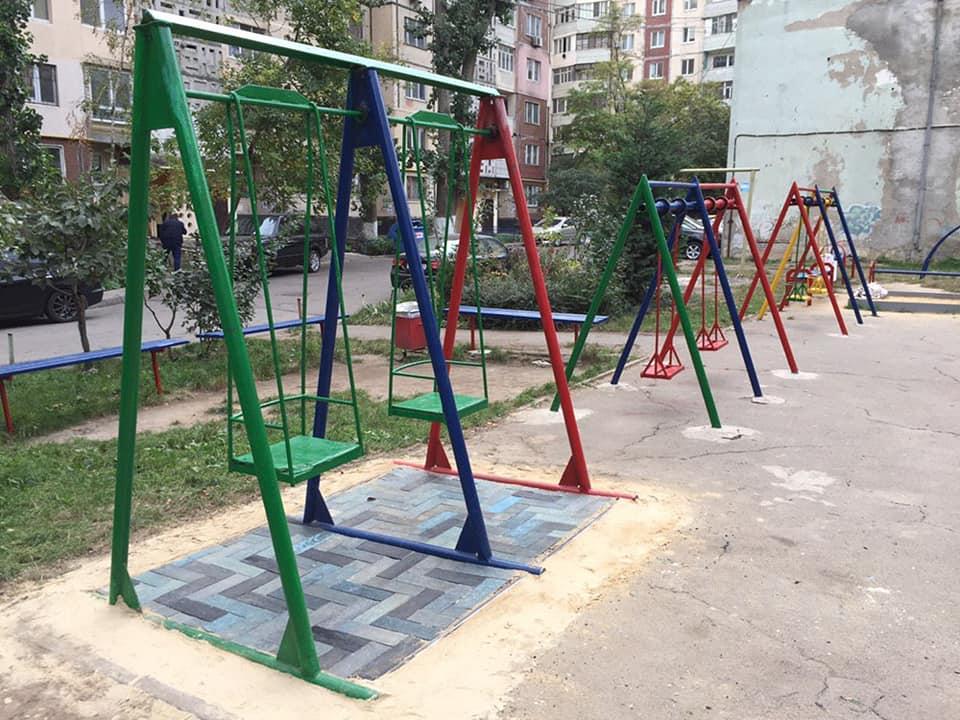 экоплитка на детской площадке