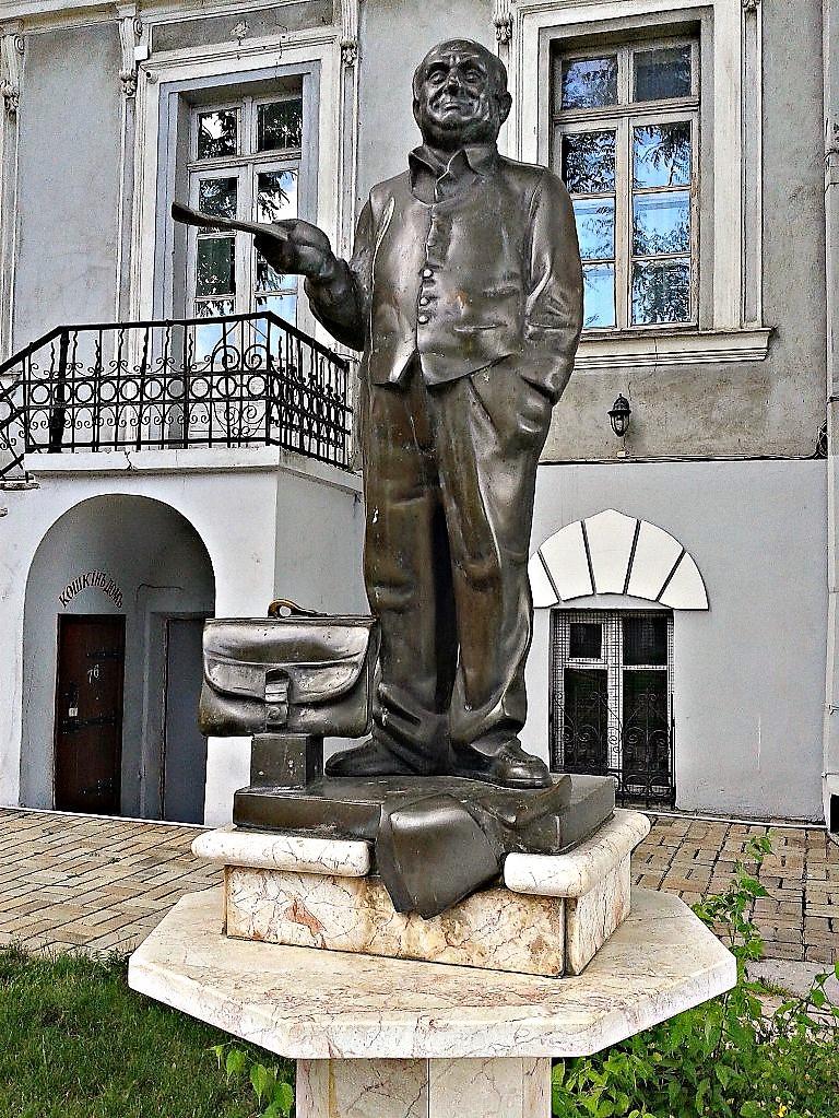 памятник Жванецкому, одесский сад скульптур