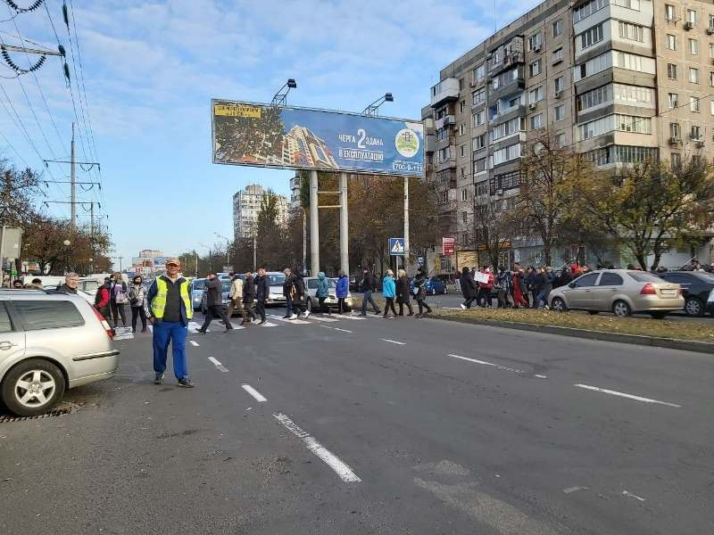 одесские торговцы протестуют против карантина выходного дня