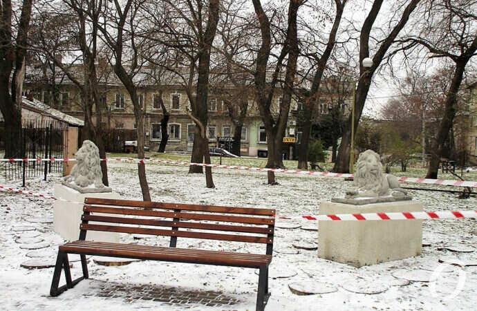 В одесском Мечниковском сквере поселились два молодых льва и появились другие новшества (фото)
