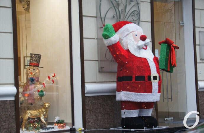 Новогодняя витрина, Санта