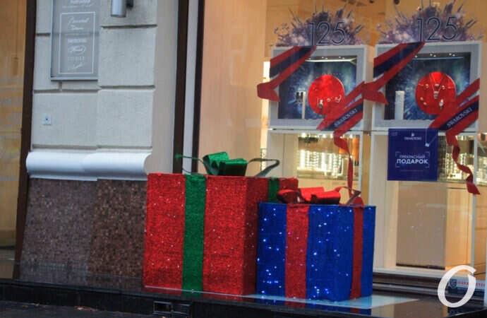 Новогодняя витрина, подарки