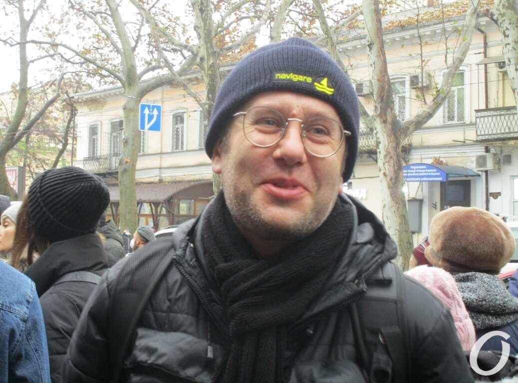 Митинг на Ришельевской, участник Вадим Луговцов
