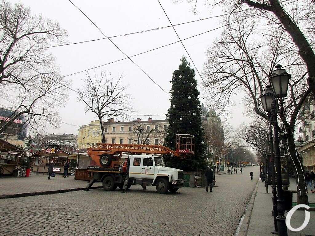 елка на Дерибасовской