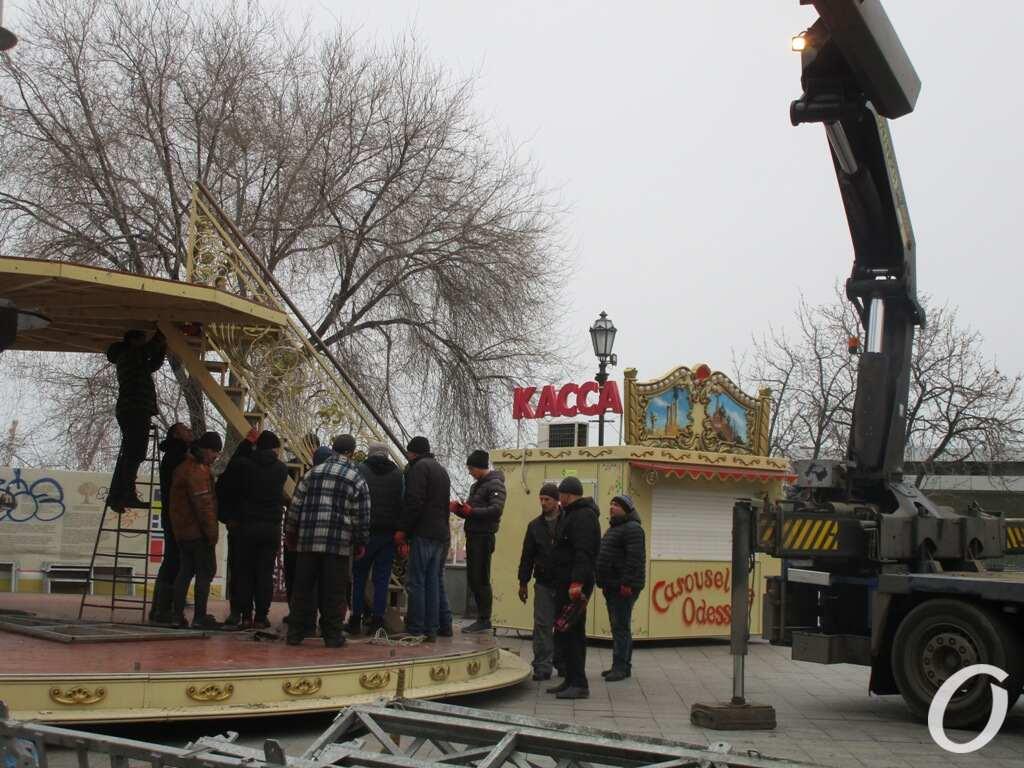 монтаж карусели в Одессе