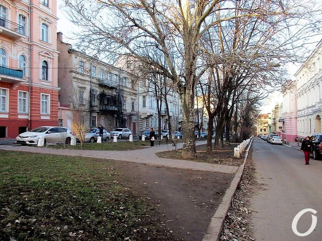 Киношные места Одессы, сквер