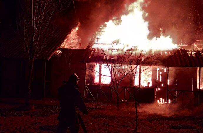 В Затоке горела база отдыха (фото)