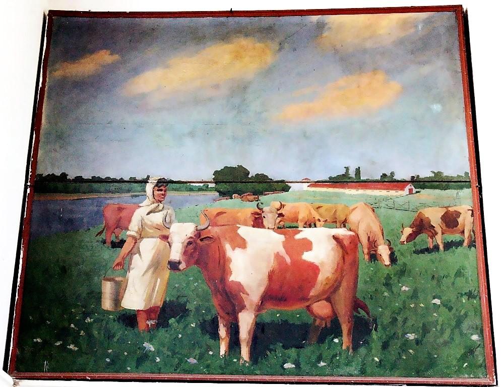 Доярка, картина на Привозе