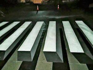Пешеходый переход на углу Магистриальной и Нескучной