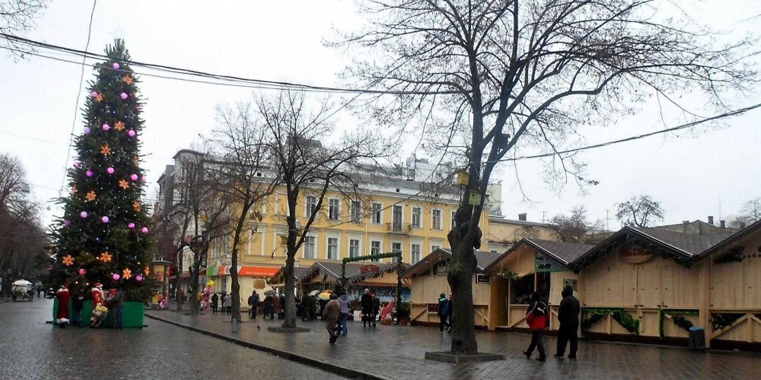 Елка на Дерибасовской в 2014 году