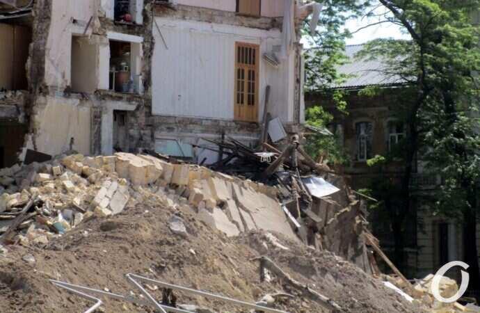 обрушение на Торговой в Одессе