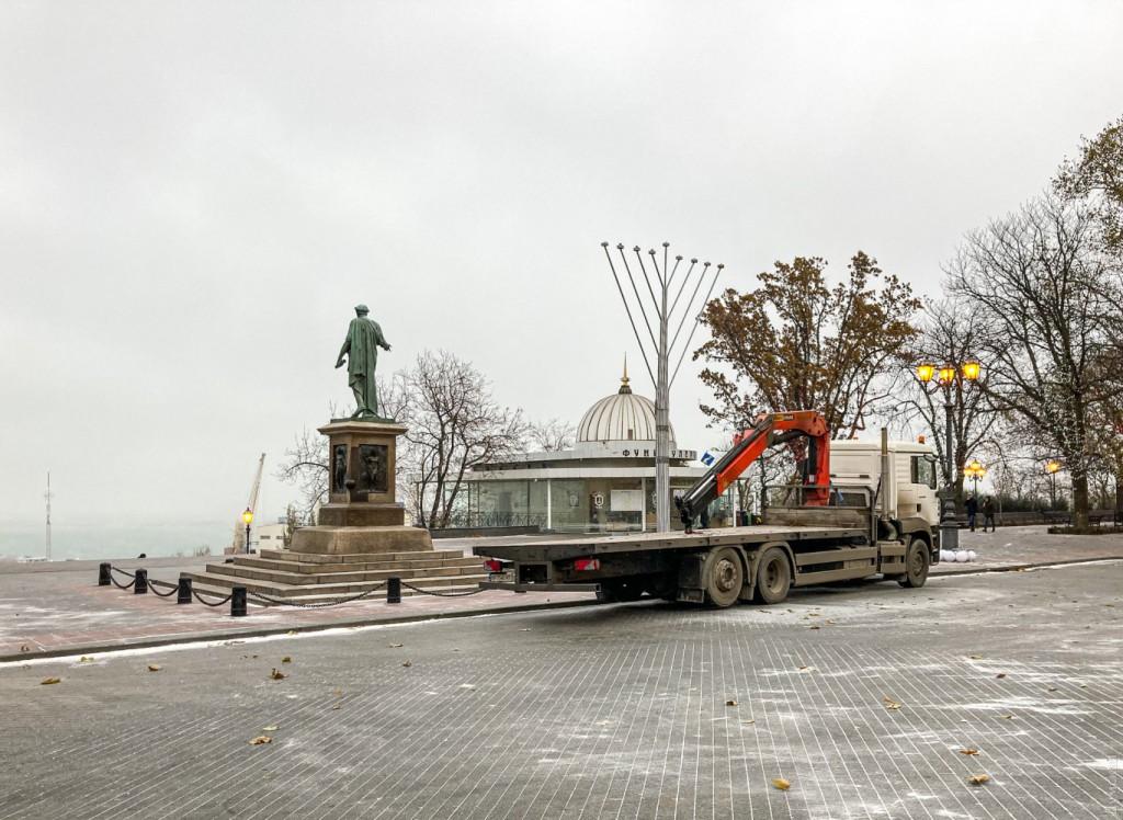 установка ханукии в Одессе