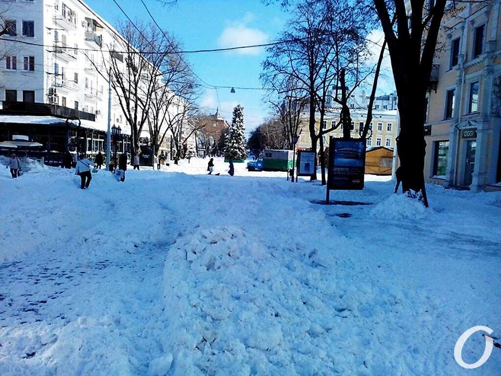 Елка на Дерибасовской, 2015, снег