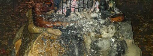В Одессе в районе Ланжерона горел крест