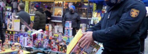 На одесских рынках торговали просроченной пиротехникой (видео)