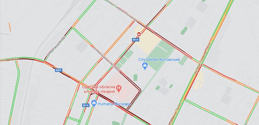 пробки в Одессе, Котовского