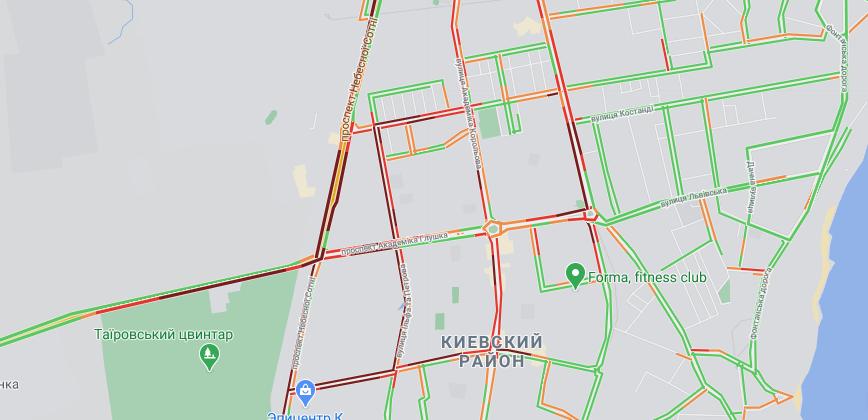 пробки в Одессе, Таирова