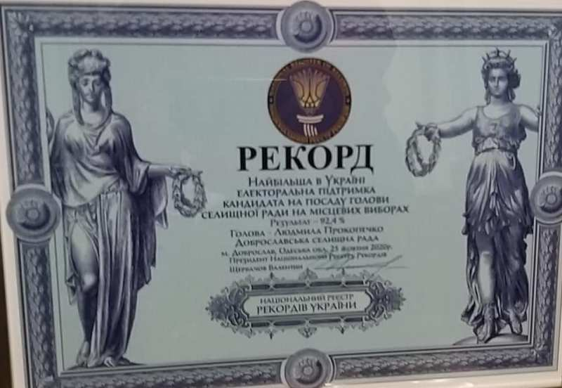 Национальный рекорд Украины