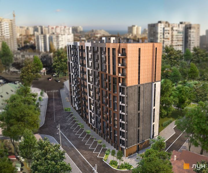 комплекс апартаментов «Итака», визуализация