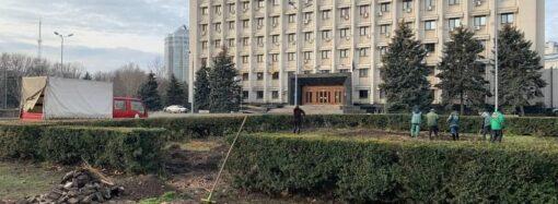 В Одессе снесли «нахалстрой бракосочетаний» возле облгосадминистрации