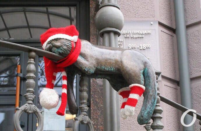 Одесская цаца: первоянварские уличные штучки (фото)