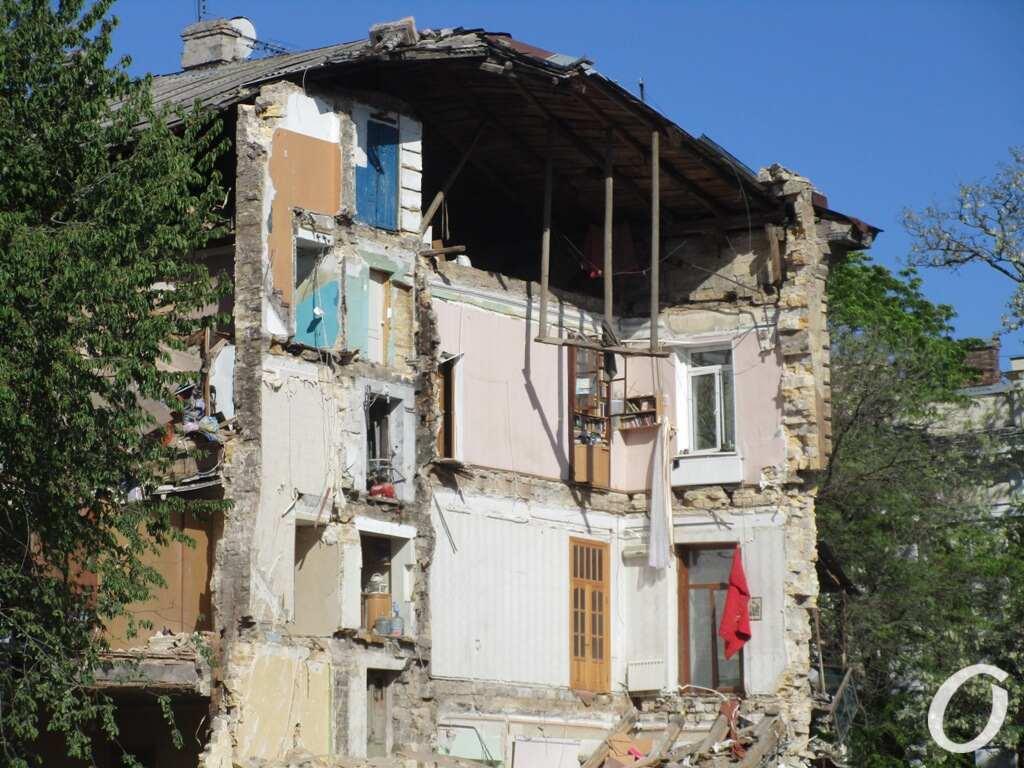 Дом на Торговой после обвала