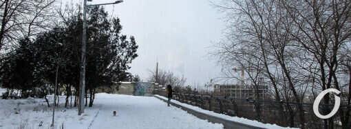 В Одессе снежно-морозно: обновленная часть бульвара Жванецкого (фото)