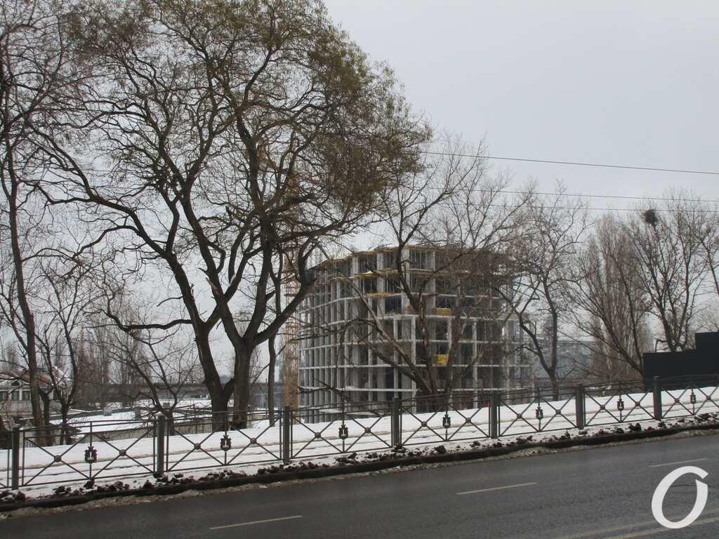 Стройка на Софиевской, о спуска Маринесковид с