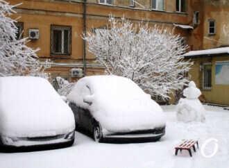 Снегопад по-одесски: как преобразились старые дворики (фоторепортаж)